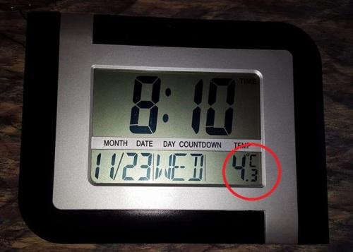 4 градуса тепла в комнате у жительницы Самарканда. Фото из Фейсбук
